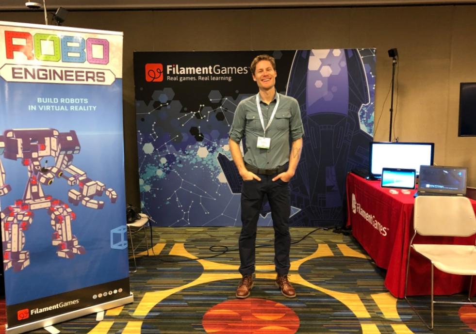 Filament Games booth setup