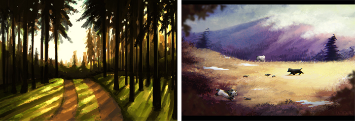 Natasha's August 2014 speed-painting compared to June 2016 speed-painting