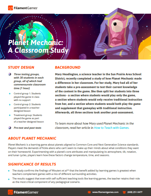 Planet Mechanic: A Classroom Study